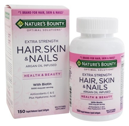 Nature's Bounty, Optimal Solutions, Hair, Skin & Nails, Extra Strength